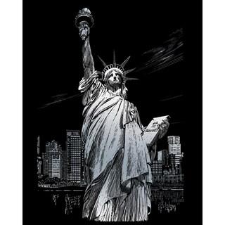 """Silver Foil Engraving Art Kit 8""""X10""""-Lady Liberty"""