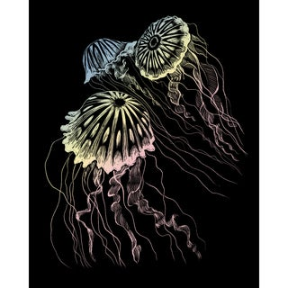 "Holographic Foil Engraving Art Kit 8""X10""-Jellyfish"
