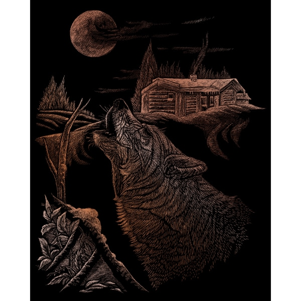 "Copper Foil Engraving Art Kit 8""X10""-Howl"