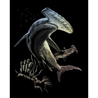 "Holographic Foil Engraving Art Kit 8""X10""-Hammerhead Shark"