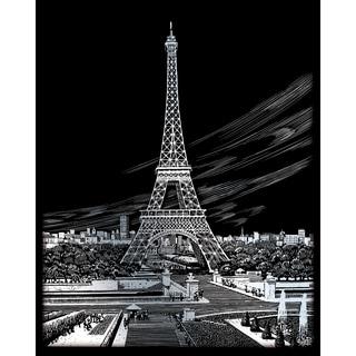 "Silver Foil Engraving Art Kit 8""X10""-Eiffel Tower"