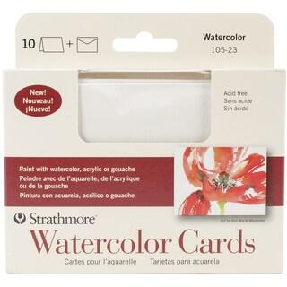 "Strathmore Cards & Envelopes 3.5""X4.875"" 10/Pkg-Watercolor Cold Press"
