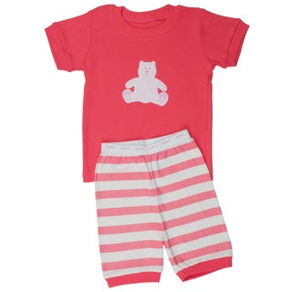 Elowel Shorts Teddy Bear 2-piece Pajama Set (Size 2-12Y)
