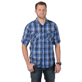 Vance Co. Men's Rolled Sleeve Button-up Plaid Shirt