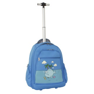 Ed Heck Sky Blue Big Fish 20-inch Rolling Backpack