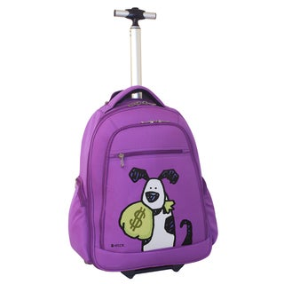Ed Heck Purple Money Doggie 20-inch Rolling Backpack