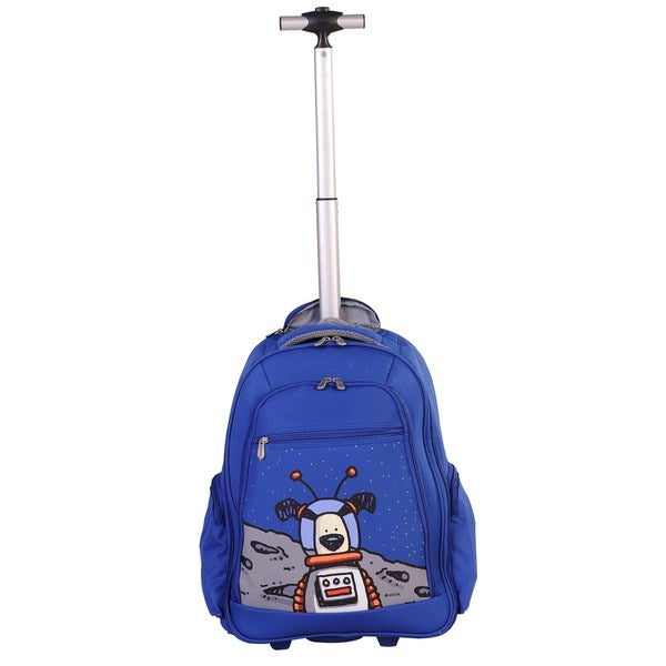 Ed Heck True Blue Moon Dog 20-inch Rolling Backpack