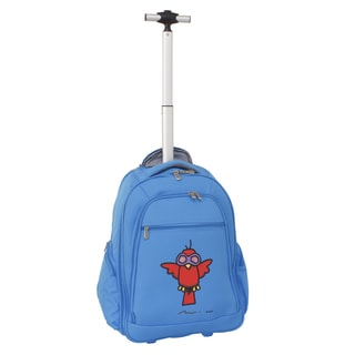 Ed Heck Sky Blue Aviator 20-inch Rolling Backpack