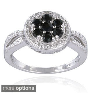 Glitzy Rocks Silver Precious Gemstone Ring