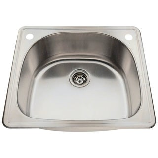 MR Direct T2421 Topmount Single Bowl Stainless Steel Sink