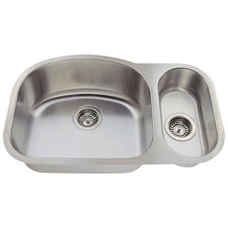 MR Direct 529 Offset Double Bowl Stainless Steel Kitchen Sink