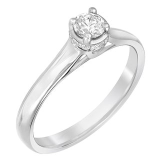 Sterling Silver Moissanite Engagement Ring