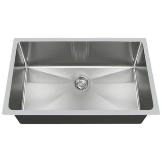 MR Direct 3120S Undermount Single Bowl 0.75-inch Radius Kitchen Sink