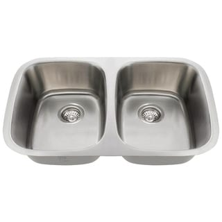 MR Direct 510 Equal Double Bowl Stainless Steel Sink