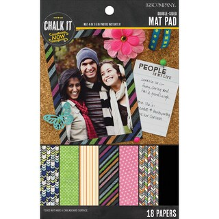 Chalk It Now Mat Pad 18/Pkg