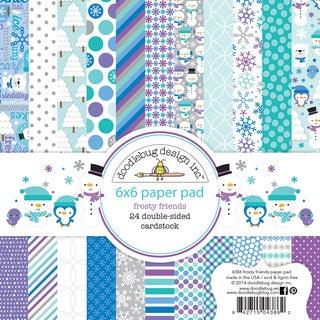 "Doodlebug Paper Pad 6""X6"" 24/Pkg-Frosty Friends"
