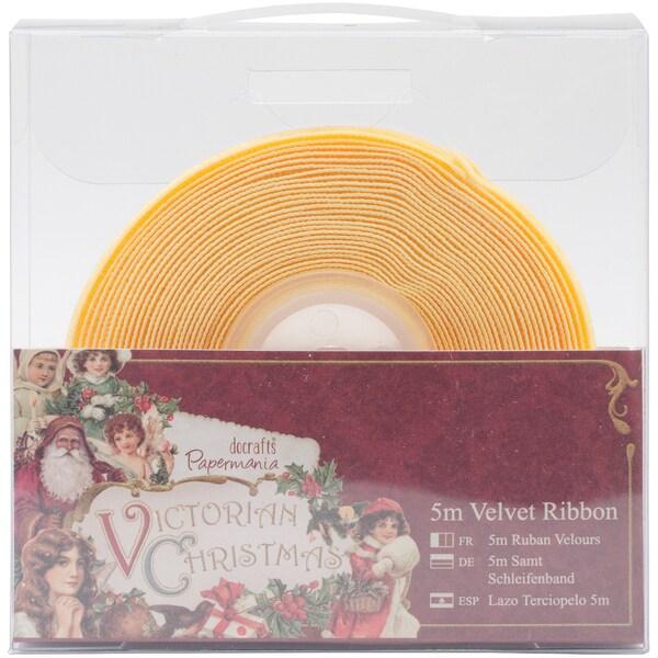 Papermania Victorian Christmas Velvet Ribbon 5m