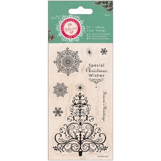 "Papermania Bellissima Christmas Mini Clear Stamps 3""X5.5"""