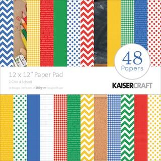 "Kaisercraft Paper Pad 12""X12"" 48/Pkg-2 Cool 4 School"