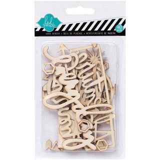 September Skies Wood Veneer Shapes 40/Pkg