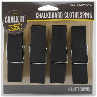 Chalk It Now Large Chalkboard Clothespins 4/Pkg