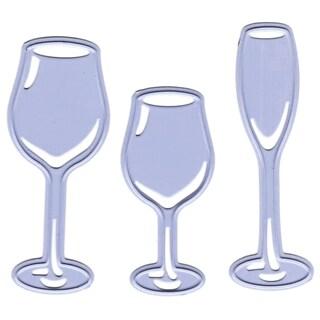 "Joy! Crafts Cut & Emboss Dies-3 Glasses, .75""X1.75"" To .75""X2"""