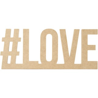 """Beyond The Page MDF #LOVE Wall Word-13.25""""X5.5""""X.5"""""""
