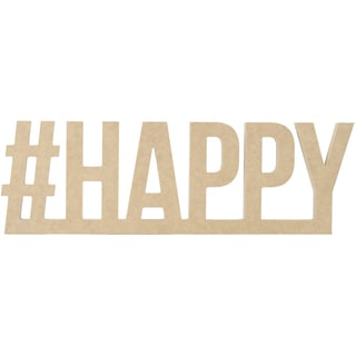 """Beyond The Page MDF #HAPPY Wall Word-17.75""""X5.5""""X.5"""""""