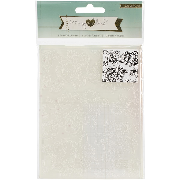 Maggie Holmes Open Book Embossing Folder-Floral