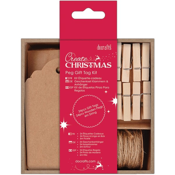 Papermania Create Christmas Peg Gift Tag Kit