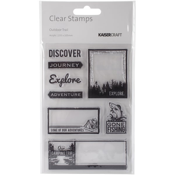Outdoor Trail Clear Stamps 6.25X4in