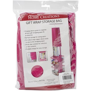 Gift Wrap Storage Holder-Fuchsia