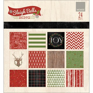 "My Mind's Eye Paper Pad 6""X6"" 24/Pkg-Sleigh Bells Ring"