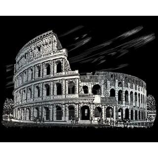 "Silver Foil Engraving Art Kit 8""X10""-Colosseum"