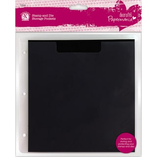 Papermania Stamp & Die Storage Pockets 10/Pkg-W/Magnetic Shim; Fits PM105902