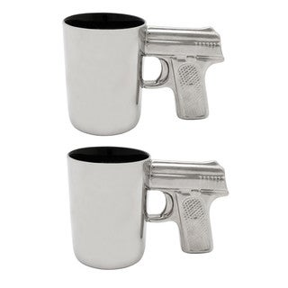 AGS Silver Pistol Mugs, 2 Pack