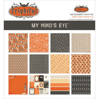 "My Mind's Eye Paper Pad 6""X6"" 24/Pkg-Frightful"