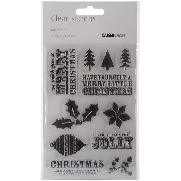 Mistletoe Clear Stamps 6.25X4in