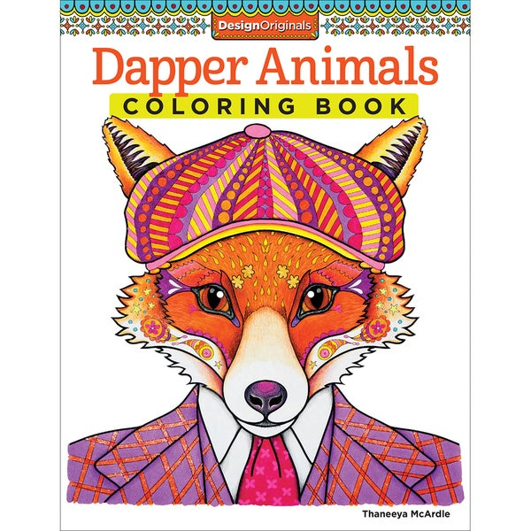 Design Originals-Dapper Animals Coloring Book