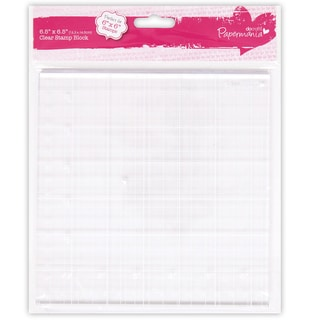 Papermania 6.5inX6.5in Clear Stamp Block