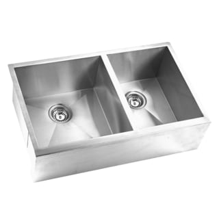 Stainless Steel Apron Double Sink