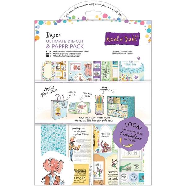 Roald Dahl Ultimate Die-Cut & Paper Pack A4 48/Pkg-Duper