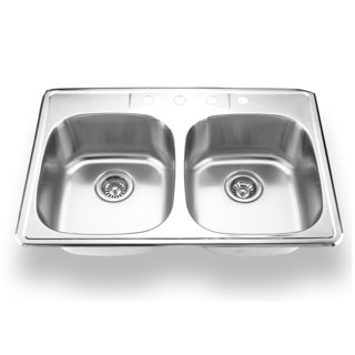 Stainless Steel Topmount Double Bowl