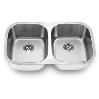 Undermount Double Bowl Symmetrical Sink (Undercounter Installation)