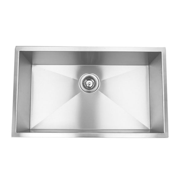 Undermount Right Angled Single Bowl Sink (Undercounter Installation)