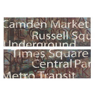 City Signs Canvas Wall Art (Set of 2)