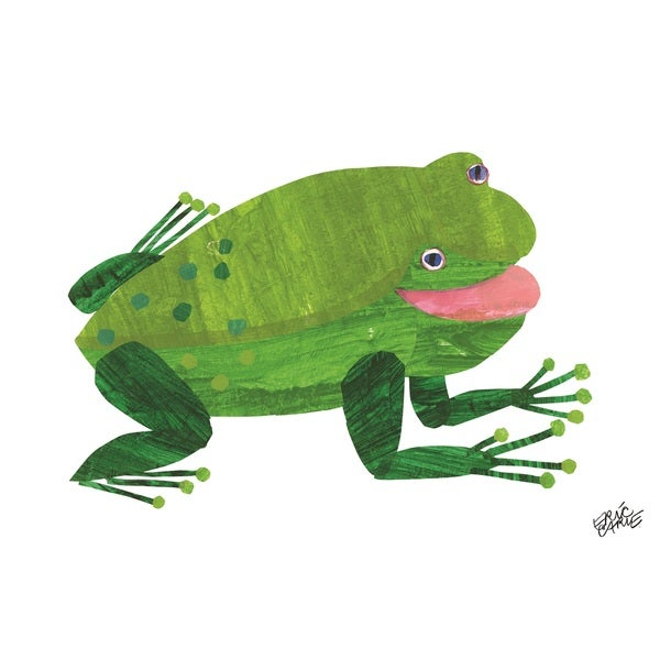 Brown Bear Green Frog Character Art by Eric Carle
