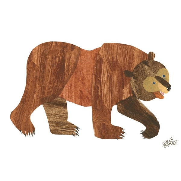 Brown Bear Character Art by Eric Carle