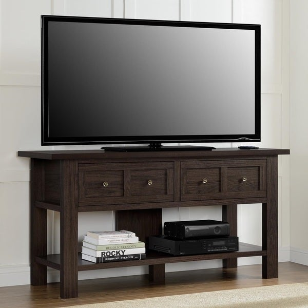 Altra apothecary 55 inch tv stand console table for Table under tv