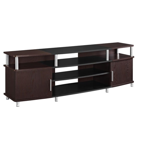 altra carson 70 inch tv stand overstock shopping great deals on altra entertainment centers. Black Bedroom Furniture Sets. Home Design Ideas